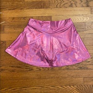 Club Exx NWT Pink Holographic Skort